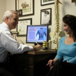 Chiropractor Weymouth MA Eric Diener and patient