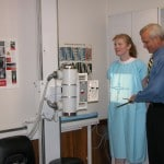 Chiropractor Weymouth MA Eric Diener giving xrays