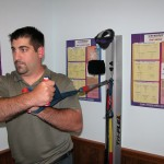 Chiropractic Weymouth MA Office patient exercising shoulder