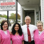 Chiropractor Weymouth MA Eric Diener and pink staff